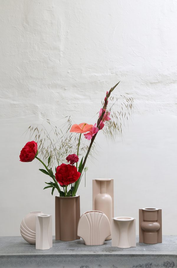mold shape flower vase M matt skin-27907
