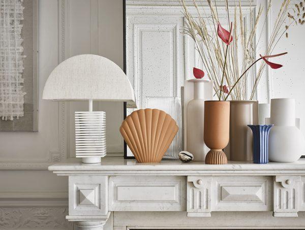 HKliving mold shape flower vase L matt skin-27927