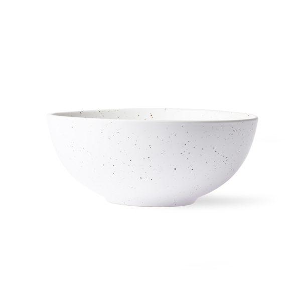 bold & basic ceramics: speckled bowl white-0