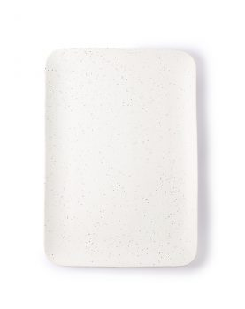 bold & basic ceramics: speckled tray white-0