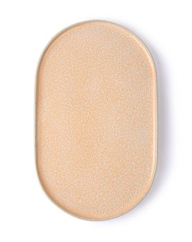 gallery ceramics: oval side plate peach-0