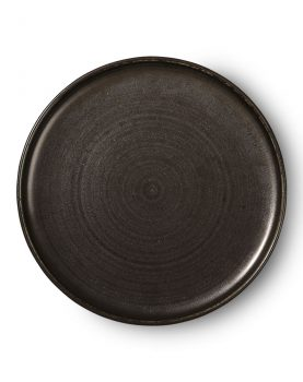 Kyoto ceramics: rustic dinner plate black-0