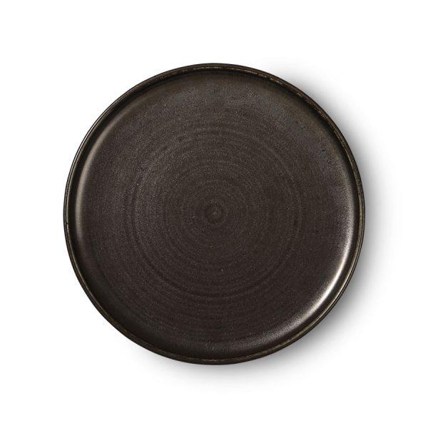 Kyoto ceramics: rustic dinner plate black-0