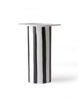 ceramic vase black/white striped-0