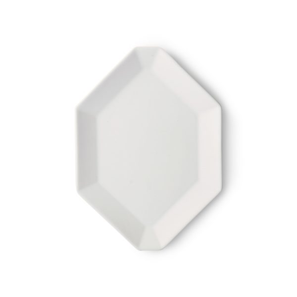athena ceramics: octagonal side plate white matt-0