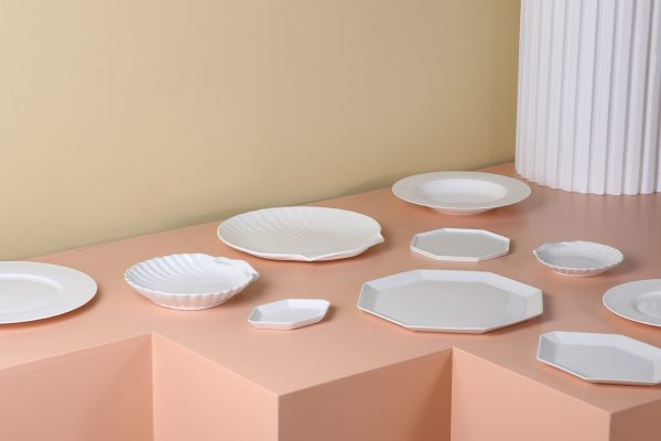 athena ceramics: shell tray white matt M-28040