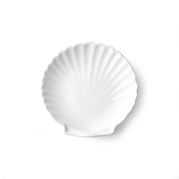 athena ceramics: shell tray white matt M-0