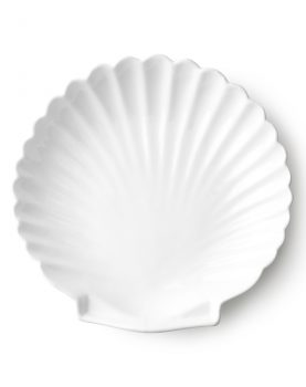 athena ceramics: shell tray white L-0