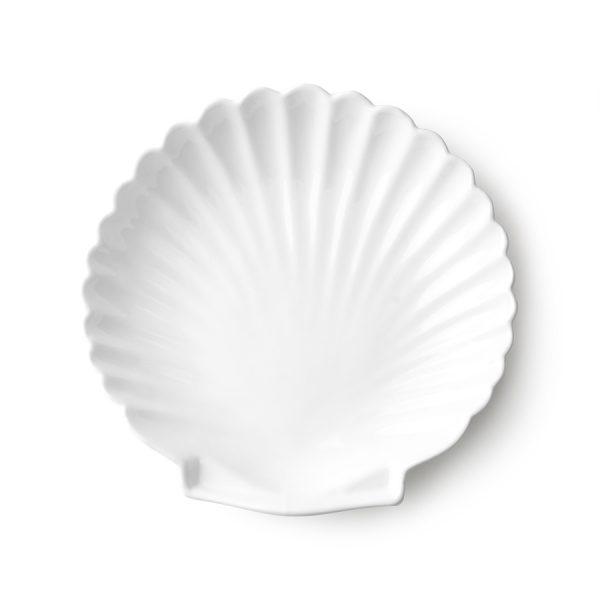 athena ceramics: shell tray white L-0