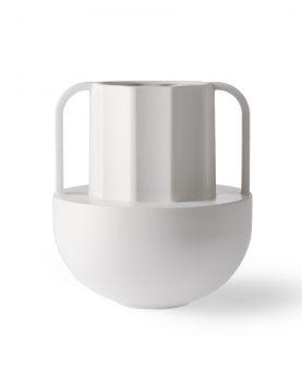 white ceramic vase greek D-0