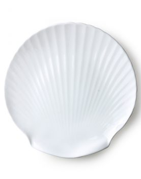 athena ceramics: bone china shell serving tray-0