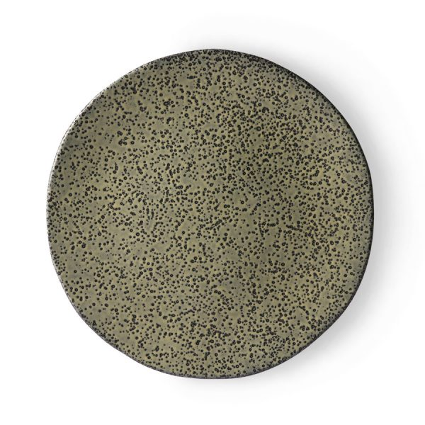 gradient ceramics: dinner plate green-0