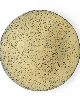 gradient ceramics: dinner plate yellow-0