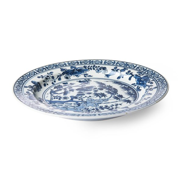 HKliving Kyoto ceramics: handpainted plate-29079