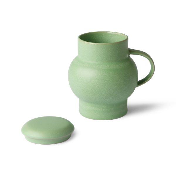 HKliving ceramic bubble tea mug L green-28158