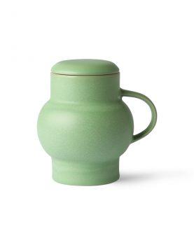 HKliving ceramic bubble tea mug L green-0