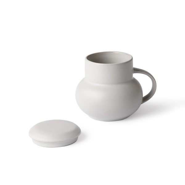 HKliving ceramic bubble tea mug M grey-28163