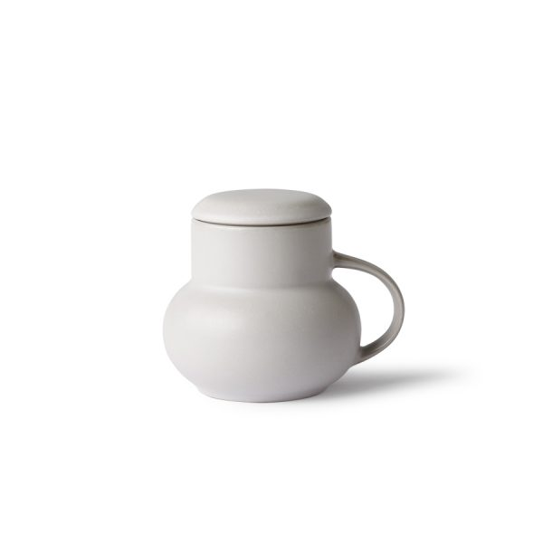 HKliving ceramic bubble tea mug M grey-0