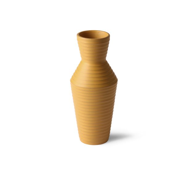 ceramic flower vase ochre-28192