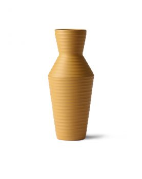 ceramic flower vase ochre-0