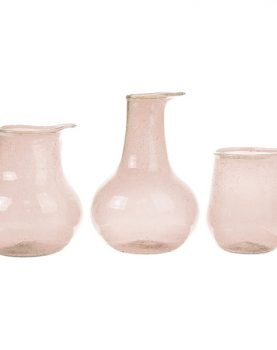 recycled glass vases nude (set of 3)-0