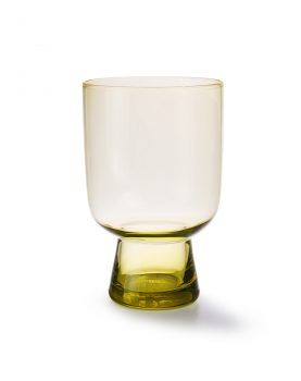 chartreuse glass L engraved-0
