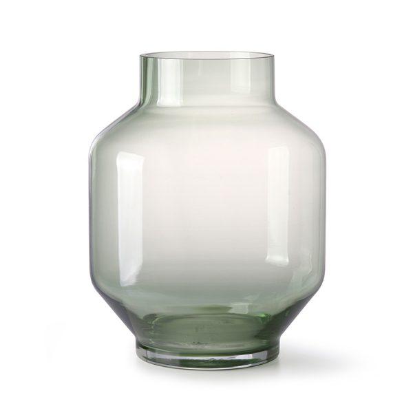 green glass vase L-0