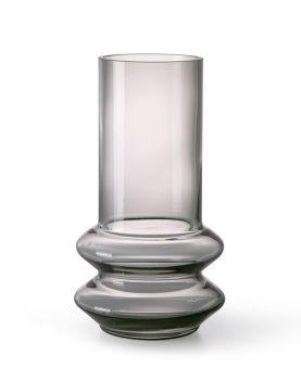 smoked grey glass vase M-0