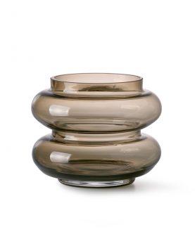 smoked brown glass vase S-0