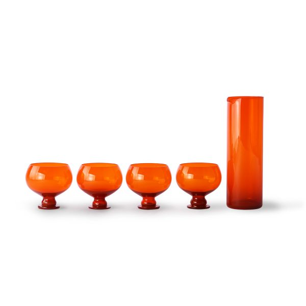 funky orange glassware set-0