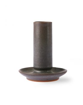 ceramic candle holder M brown-0