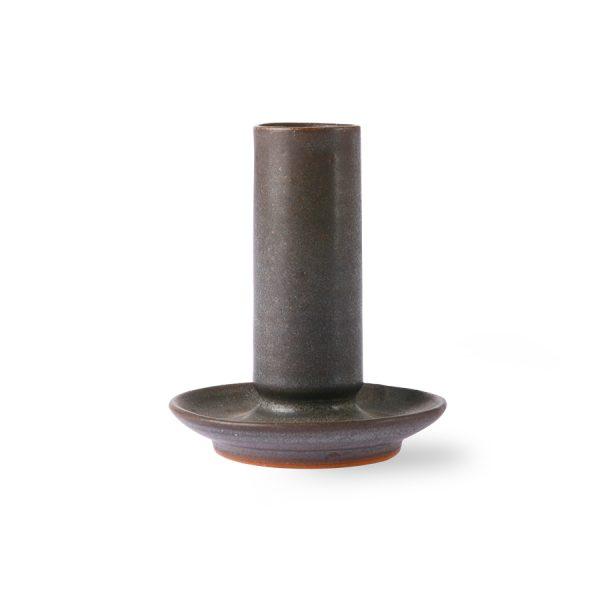 ceramic candle holder M brown-0