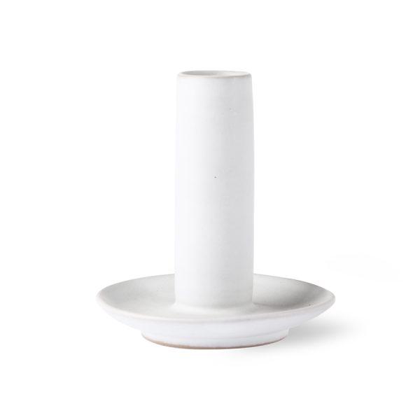 ceramic candle holder L white-0