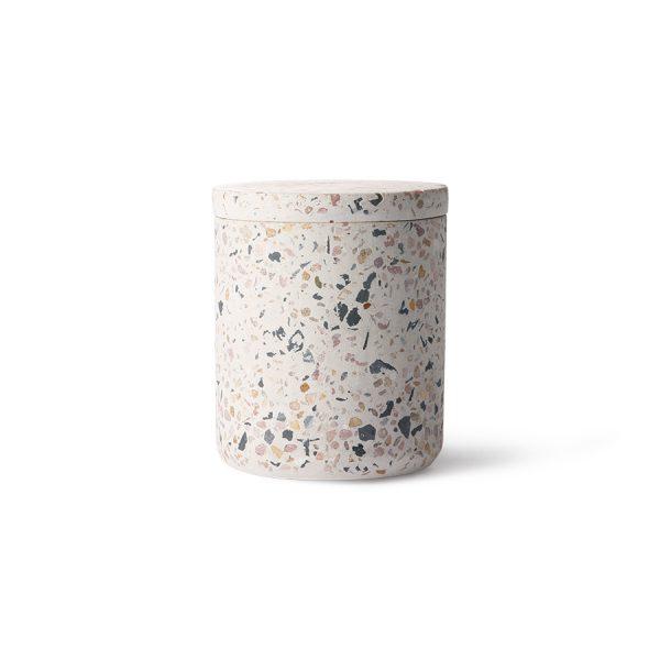 terrazzo storage jar S-0