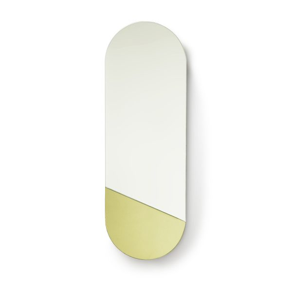 oval mirror M gold-0