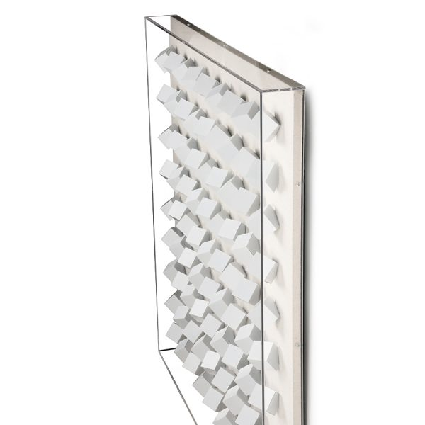 Hkliving plexi art frame white cubes XL-28489
