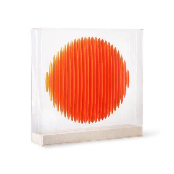 orange circle art frame-0