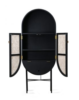 retro oval cabinet black-28543