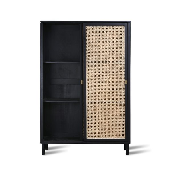 HKliving webbing sliding door cabinet black-28547