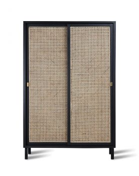HKliving webbing sliding door cabinet black-0