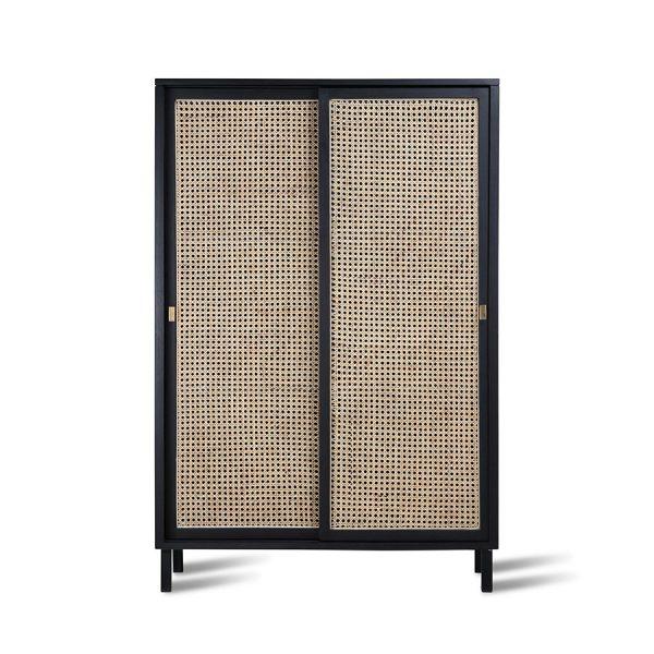 HKliving webbing sliding door cabinet black-0