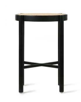 HK living retro webbing stool black-28574
