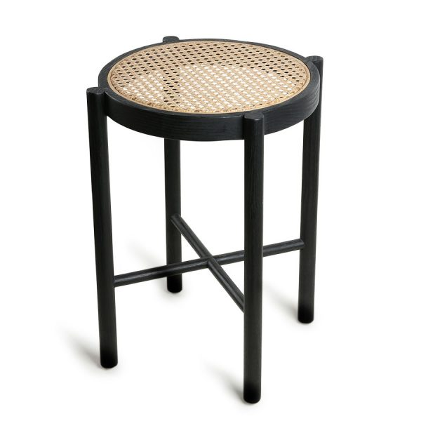 HK living retro webbing stool black-0