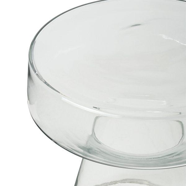 Hkliving glass side table-28581
