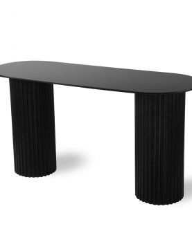 HK living pillar side table oval black-28622