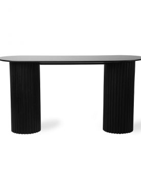 HK living pillar side table oval black-0