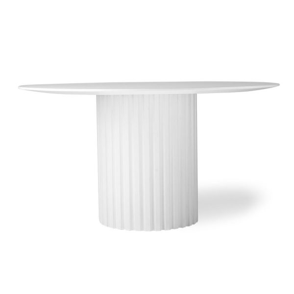 pillar dining table round white-0