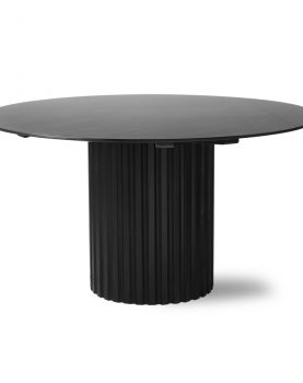 pillar dining table round black-28638