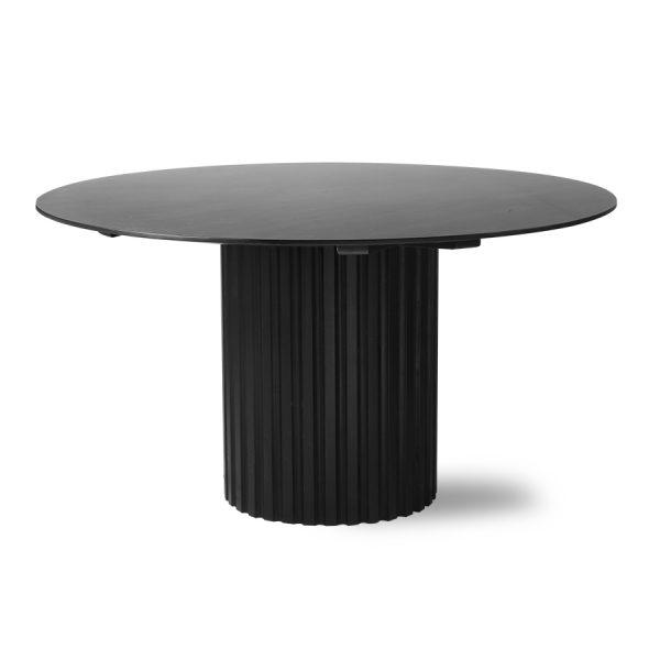 pillar dining table round black-28638
