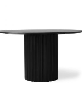 pillar dining table round black-0